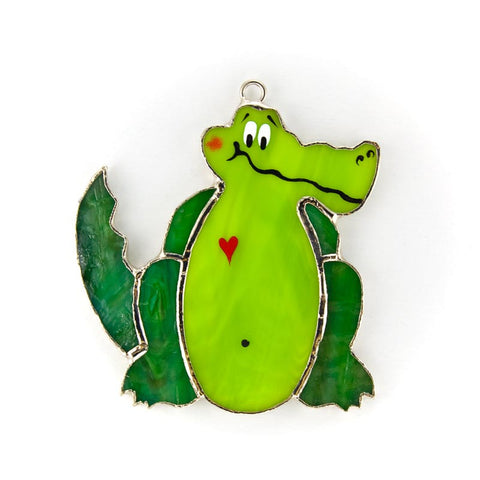 Glass Cover- Green Gator