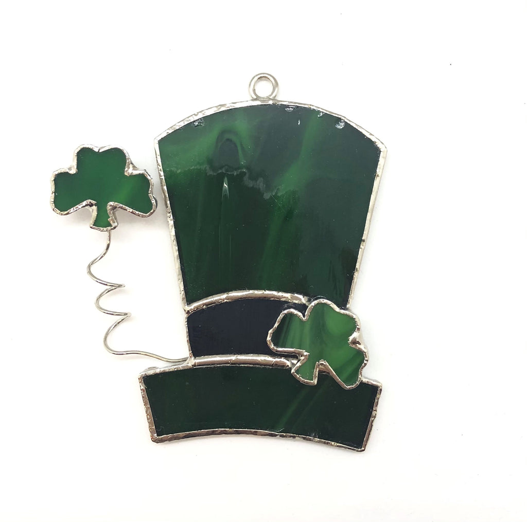 Glass Cover- Shamrock Hat (Divoted/Discolored)
