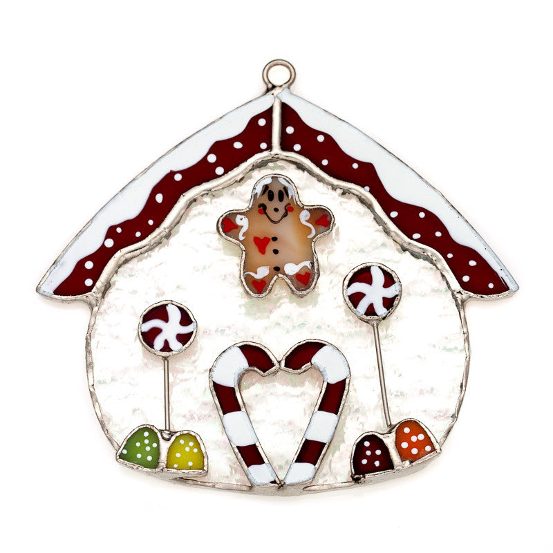 Glass Cover- Gingerbread House