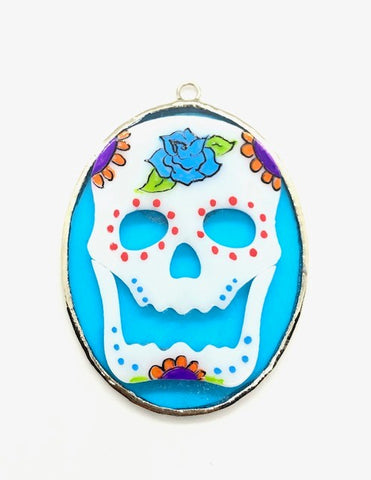 Glass Cover- Sugar Skull