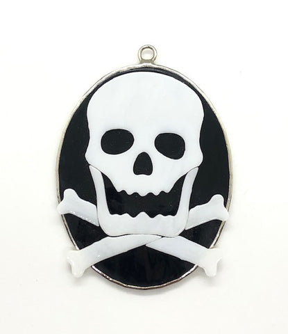 Glass Cover- Skull and Crossbones