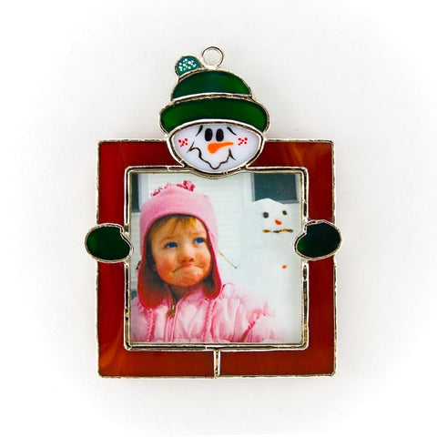 Glass Cover- Snowman Picture Frame
