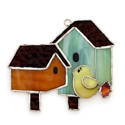 Glass Cover- Double Birdhouse