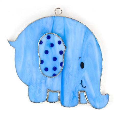 Glass Cover- Elephant, Blue