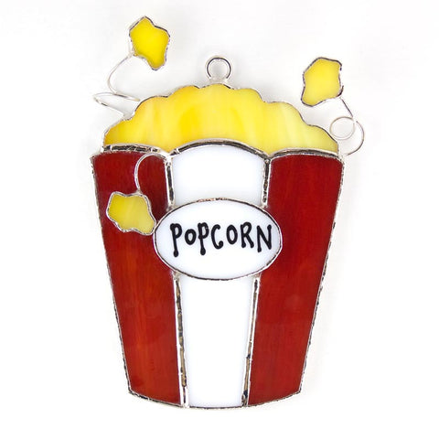 Glass Cover- Movie Night Popcorn