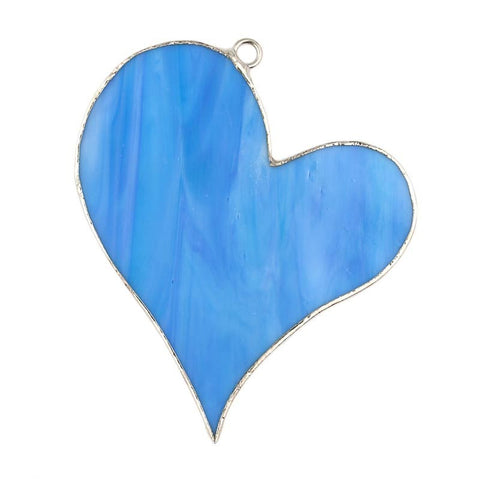 Glass Cover- Blue Heart