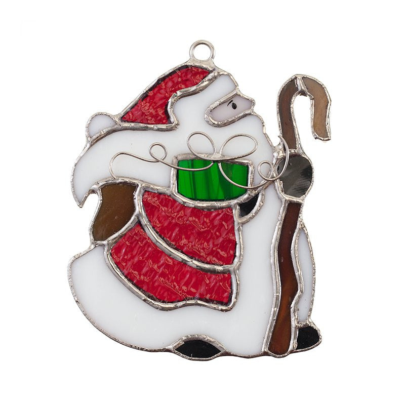 Glass Cover- Santa with Gift