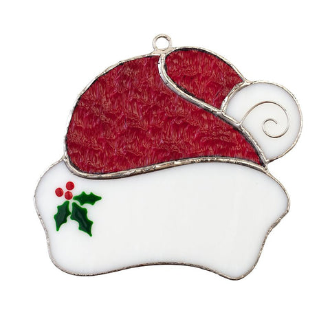 Glass Cover- Santa's Hat