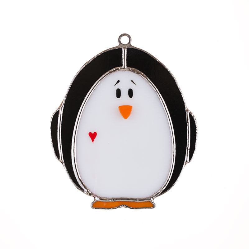 Glass Cover- Penguin (Holiday and Everyday)