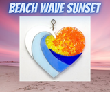 Glass Cover- Beach Wave with Sunset