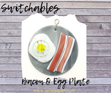 Glass Cover- Bacon & Egg Plate
