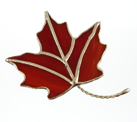 Jewelry- Maple Leaf Pin (Red)