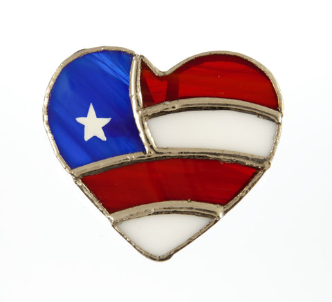 Jewelry- Patriotic Heart Pin