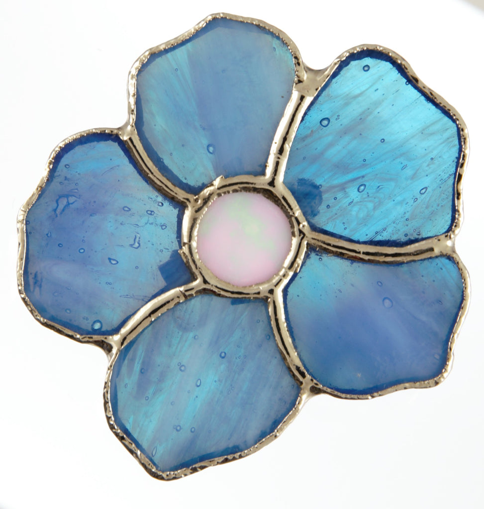 Jewelry- Blue Flower Pin