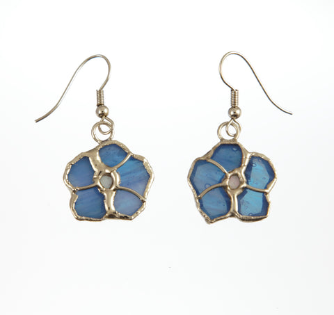 Jewelry- Blue Flower Earring