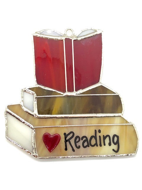 "Glass Cover- Books ""I Love Reading"""