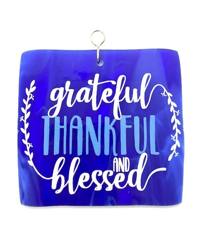 Glass Cover- GRATEFUL, THANKFUL, BLESSED