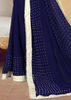 NAVY FAUX GEORGETTE SAREE