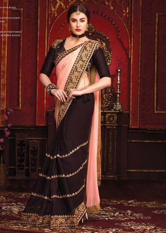 Latest Black Chiffon Saree Online