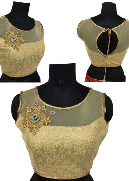 GOLDEN STYLISH  BANGLORI SILK READYMADE DESIGNER BLOUSE