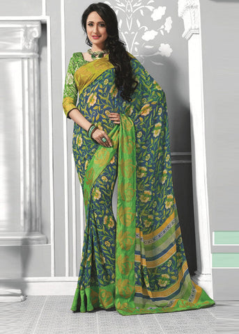 MULTICOLOR GEORGETTE CHEAP SAREE - Buy online sarees