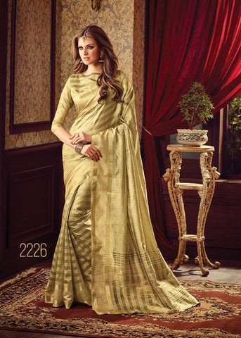 GRACEFUL BEIGE SILK SAREE ONLINE FOR WOMEN