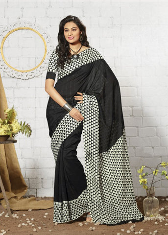 BLACK ART SILK SAREE - CHEAP SAREE ONLINE