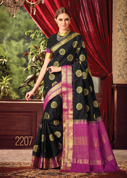 ADMIRABLE BLACK SILK SAREE ONLINE FOR WOMEN
