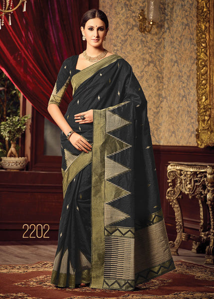 AWESOME BLACK SILK SAREE ONLINE FOR WOMEN