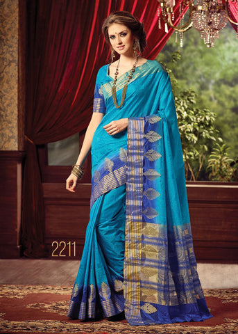 BLUE SILK SAREE ONLINE FOR WOMEN