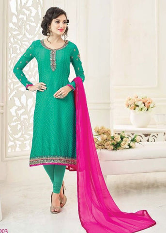 ONLINE SALWAR SHOPPING WITH USA SHIPPING - GREEN BRASSO SALWAR KAMEEZ