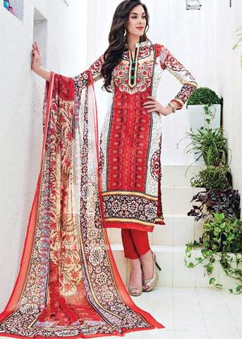 EMBROIDERED PRINTED MULTICOLOR SATIN SALWAR KAMEEZ