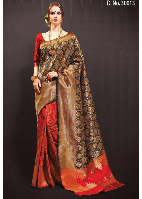 Best multicolor silk sarees online for USA CANADA saree lovers