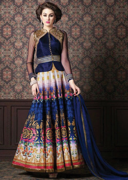 ELEGANT MULTICOLOR ZURICH SILK SALWAR KAMEEZ - NEW DESIGN