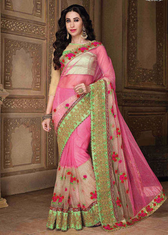 net saree with stone work and free shipping to USA CANADA