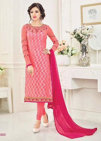 ONLINE SALWAR SHOPPING WITH USA SHIPPING - PINK BRASSO SALWAR KAMEEZ