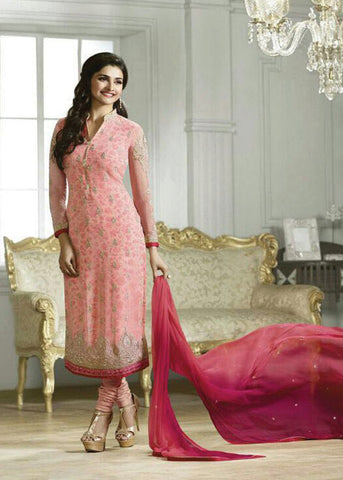 PINK GEORGETTE INDIAN SALWAR KAMEEZ ONLINE - free shipping usa