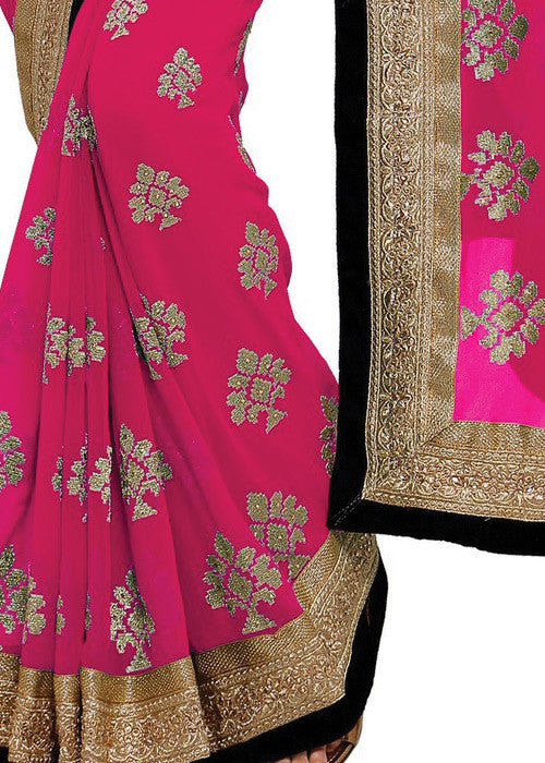 GORGEOUS PINK GEORGETTE SAREE ONLINE FOR WOMEN