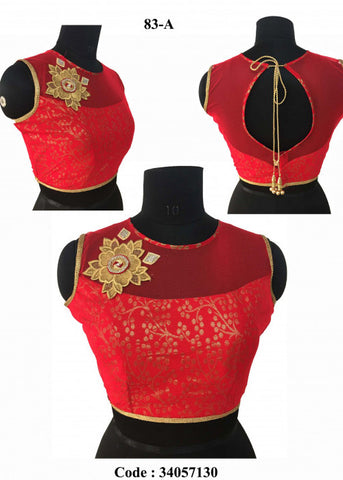 RED BANGLORI SILK READYMADE DESIGNER BLOUSE