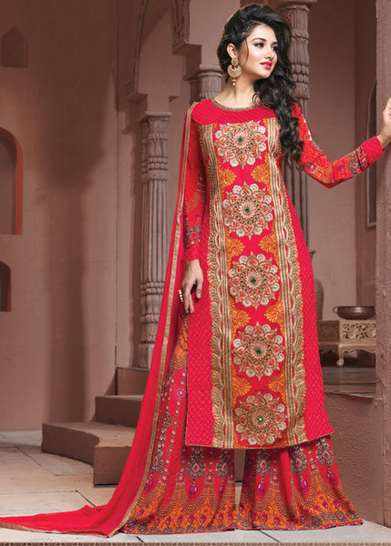 ROYAL RED GEORGETTE SALWAR KAMEEZ - ONLINE USA