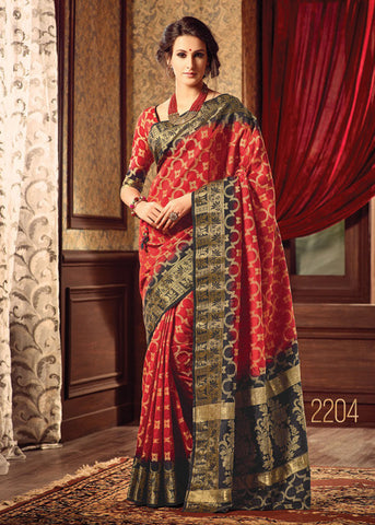 RED SILK SAREE ONLINE FOR WOMEN