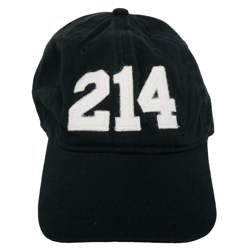 214 Dallas Area Code Felt Logo Hat