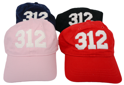 312 Chicago Area Code Felt Logo Hat