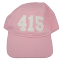 415 San Francisco Area Code Felt Logo Hat