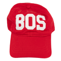 BOS Boston Airport Code Felt Logo Hat
