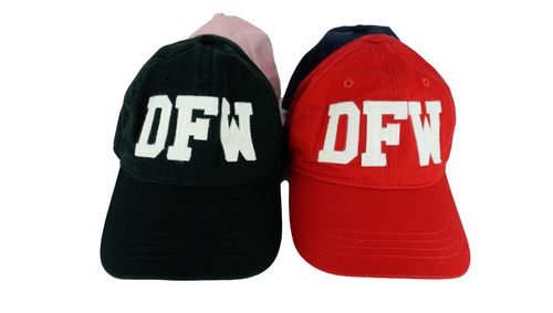 DFW Dallas Fort Worth Airport Code Felt Logo Hat
