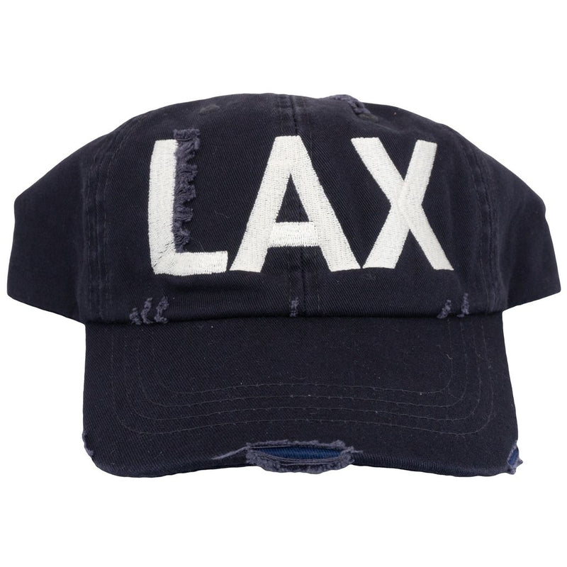 LAX Los Angeles Airport Code Distressed Classic Hat