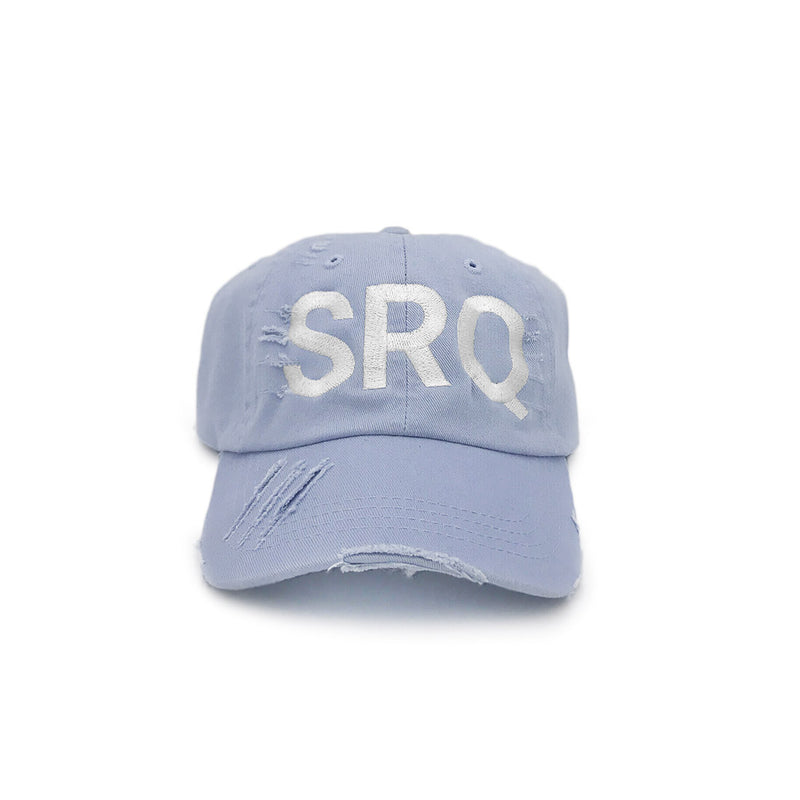 SRQ Sarasota Airport Code Distressed Hat