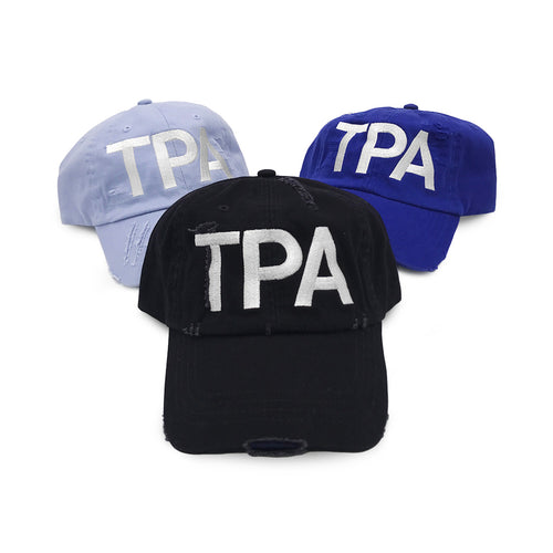 TPA Tampa Airport Code Distressed Classic Hat