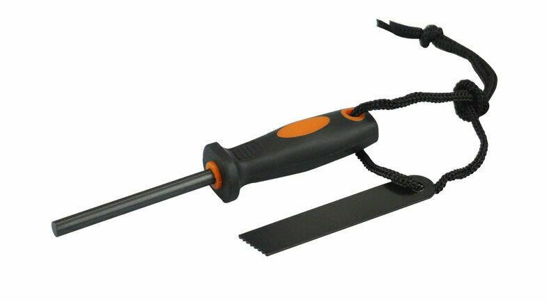 FIRE STARTER FLINT & STRIKER WITH RUBBERIZED HANDLE